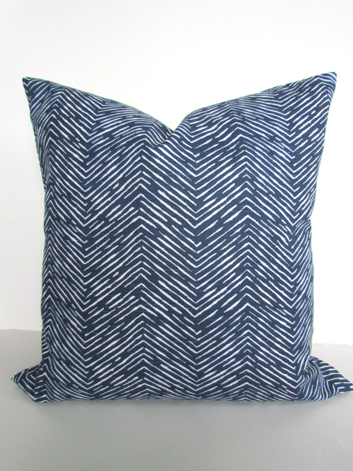 Dark Blue Throw Pillow : BLUE PILLOWS Blue Throw Pillows Dark Blue Herringbone Pillow