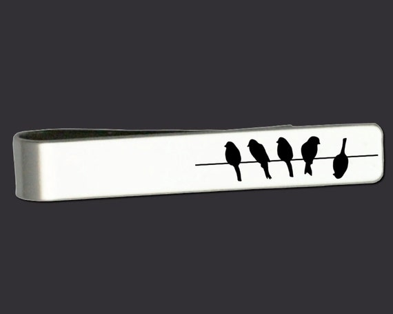 Birds on a Wire | Gifts for Men | Gift Ideas for Men | Fathers Day Gifts | Gifts for Dad | Personalized Gifts | Coach Gifts | Tie Bar