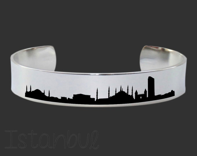 Istanbul Skyline | Cityscape Jewelry | Skyline Jewelry | Skyline Bracelet | Friend Gift | Travel Gift | Map Jewelry