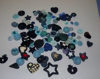 BLUE Button Lot