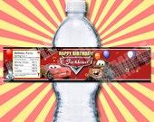 Disney Cars Water Bottle Labels Printable - Printable Birthday Party Water Bottle Label