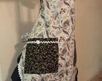 Black and Gold Apron