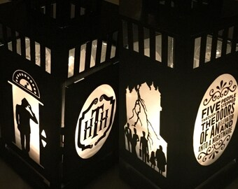 Tower of Terror Inspired Portable Metal Lantern