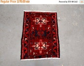 SUMMER CLEARANCE Reserved for Melissa - 1980s Hand-Knotted Karaja Persian Rug (3426)