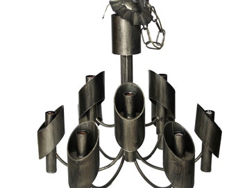Marcello Fantoni Brutalist Style 1960's Chandelier