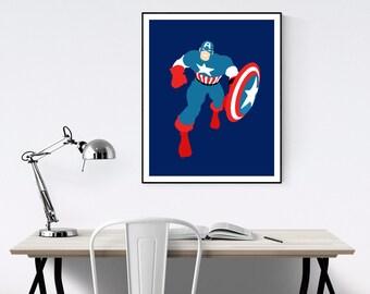 Captain America Minimalist Poster