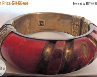 Sizzlin Summer Sale India Vintage Jewelry Brass Bracelet