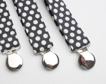 Suspenders - Grey Adjustable Suspenders