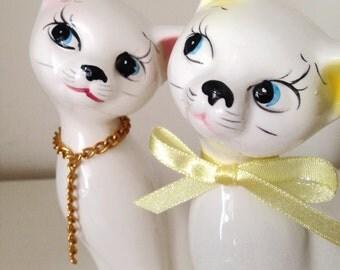 SALE- Vintage ceramic Cat lovers Figurine