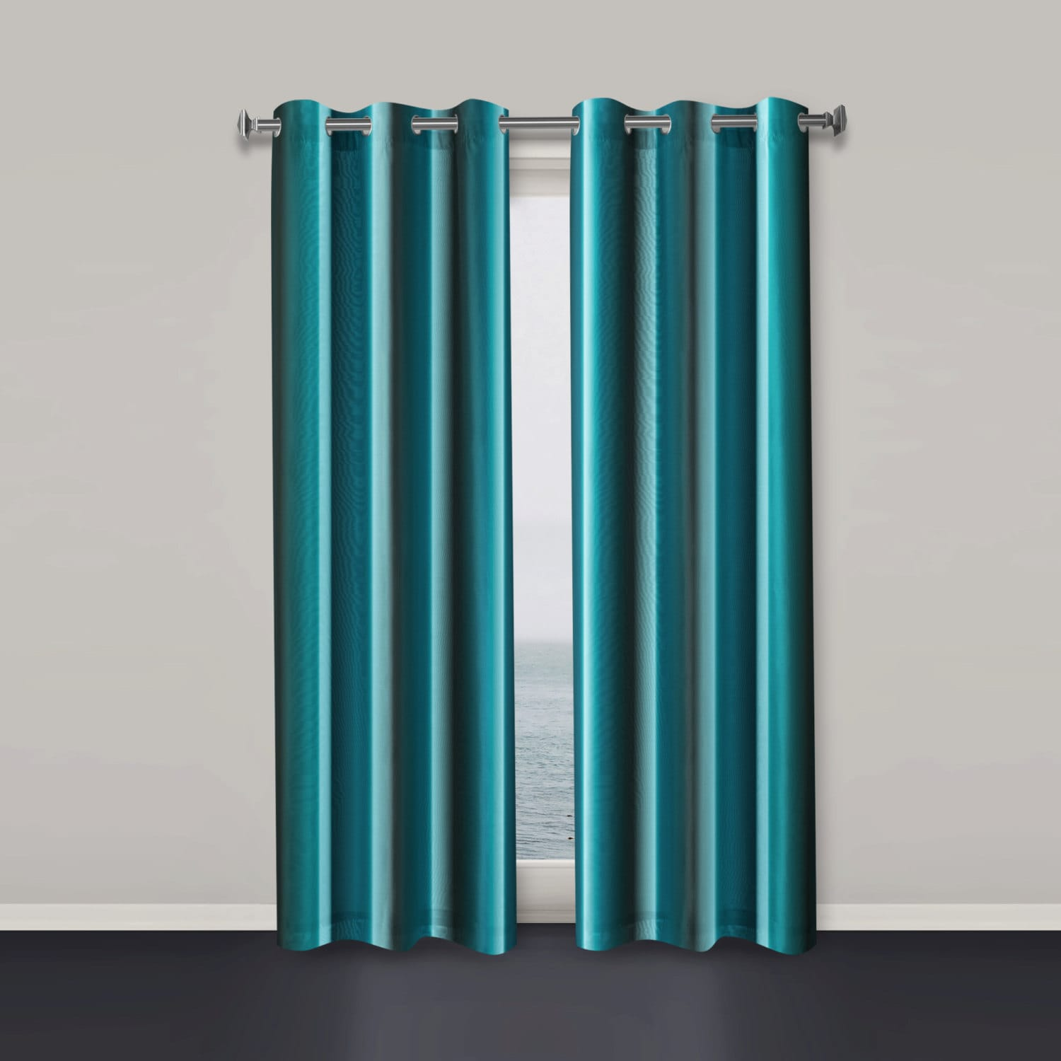 Window Curtains Teal Window Curtain Modern Window Curtain