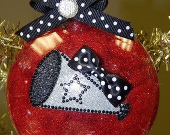 Bling Cheerleader Ornament-Can be Customized!