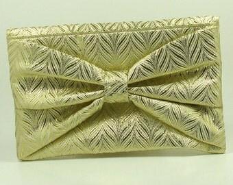 Gold Clutch, Gold Bow Clutch, Gold Chevron Clutch