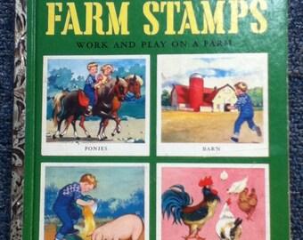 Rare Farm Stamps Little Golden Book