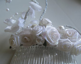 Bridal Hair Comb, Decorated Hair Comb