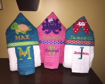 Hooded Towel Personalized Free