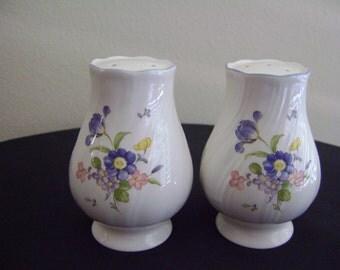 Porcelain Flower Salt and Pepper Shakers Japan