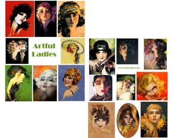 Artful Ladies Digital Collage Set