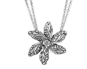 "Spoon Necklace: ""Georgia Flower"" by Silver Spoon Jewelry"
