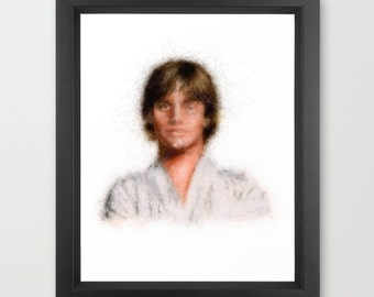Luke Skywalker INSTANT DOWNLOAD - Star Wars, The Force, present, Father's Day, gift ideas, geek, nerd, fan, May 4th be with you, holiday