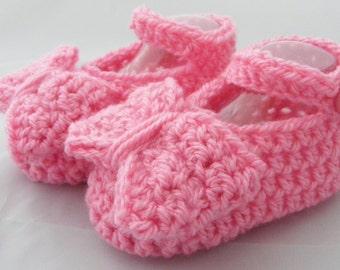 Crochet booties, baby girl booties, baby girl, pink baby booties