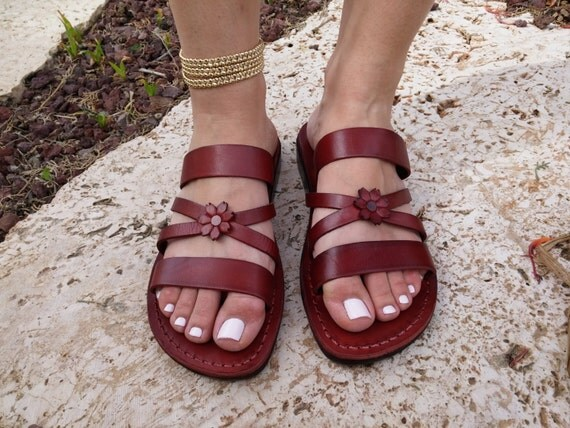 Leather Sandals Iris Womens Shoes Jesus Sandals Flip