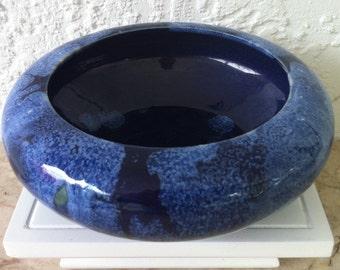 Brush McCoy, Arts & Crafts, Stunning Blue Onyx Glaze Bowl, Art Deco, Vintage Art Pottery, FREE SHIPPING