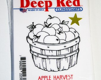Apple Harvest Clear Mount Rubber Stamp from Deep Red Cling Stamps