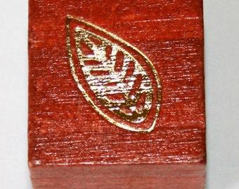 Leaf Rubber Stamp
