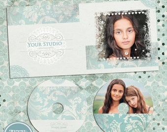 ON SALE DVD/cd Case and Label - Photoshop Template - Instant Download