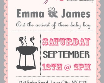 babyq baby shower bbq invitation couples boy or girl