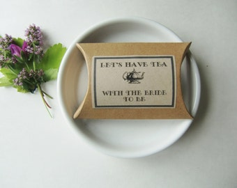 Bridal Shower Ideas-LET'S HAVE TEA-Hen Party Tea Boxes-Rustic Favor Boxes-Hen Party Favours-Bridal Shower Favors-Favor Gifts-Favor Ideas