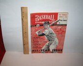 Vintage 1956 Baseball Magazine!  Jackie Robinson, All-Star Round-Up, Little League Story, Herb Score, Mickey Mantle, MORE