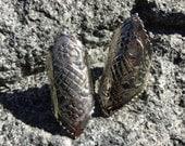 VINTAGE: Chunky Textured Eembossed Silver Tone Earrings