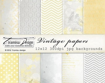 SALE Scrapbook Papers and Digital Paper Pack 23