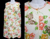 Vintage 60's KATY Floral Mu-mu Dress XL