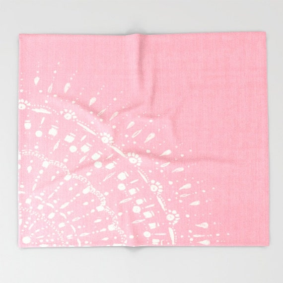 pastel pink throw blanket pink blanket pink white by lake1221. Black Bedroom Furniture Sets. Home Design Ideas