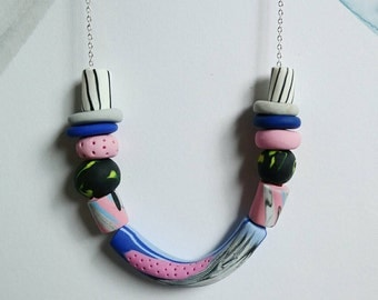 Colourful Polymer Necklace