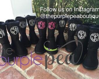 Monogrammed Childrens Boots