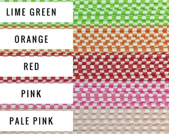 25 Checker Paper Straws / Cake Pop Sticks - Choose from 10 Colors