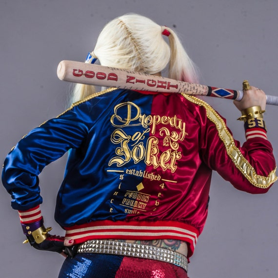 Harley quinn suicide squad embroidered jacket cosplay custom