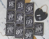 Birthday Card - Chalk Art Card - Age Birthday Card - Greetings Card - 18th Card - 21st Card - 30th Card - 40th Card - 50th Card - 60th Card
