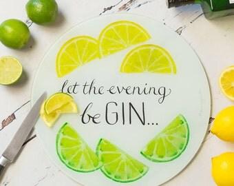 Gin Lovers Cutting Board - Gin Lovers Chopping Board - Funny Gin Board - Funny Gin Chopping Board - Kitchen Cutting Board - Gin Board