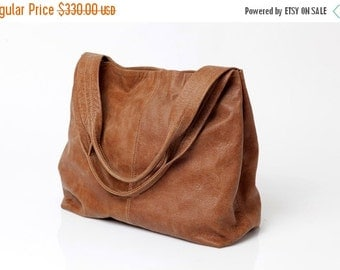 Brown leather bag - Big leather bag - Weekend bag - Soft leather bag - Tote bag - Women bag - Shoulder bag -Tami bag - Oversized bag