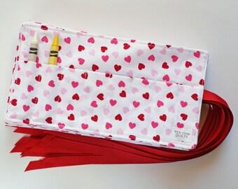 Crayon Rolls - Classroom Valentine Gift - Set of 22