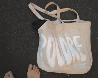 Poudre Pink Powder Girly Funny Quote Style Soft Bag Tote Shopper / Eve Damon