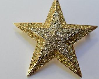 Marcel Boucher Vintage  Rhinestones 5-Pointed Star Pin Brooch 1950's