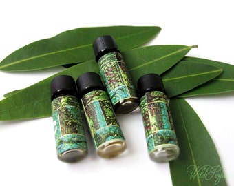 Natural Perfumes 'Western Woodland Collection' 4, Perfume Samples Woody Fragrance, Bergamot, Fir, Pine, Earth, Palo Santo
