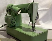 Restored Singer 185k Vintage 3/4 Size Sewing Machine with Free Shipping and Service Guaranty