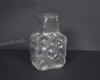 Vintage Walther glass retro vase - Germany