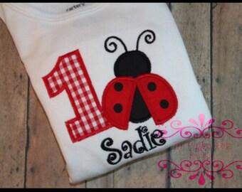 Ladybug Birthday Shirt or Bodysuit